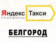Телефоны Яндекс такси в городе Белгород