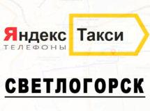 Телефоны Яндекс такси в городе Светлогорск