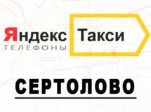 Телефоны Яндекс такси в городе Сертолово